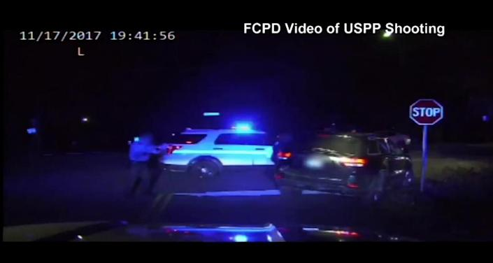 Screengrab of video shot from the dashboard of a Fairfax County Police Department cruiser. (Photo: FCPD)
