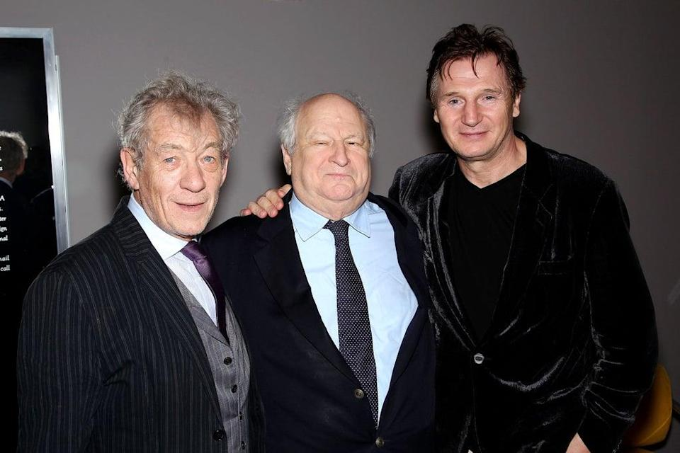 With Ian McKellen and Liam Neeson at the 13th annual Savannah Film Festival in 2010 (Shutterstock)
