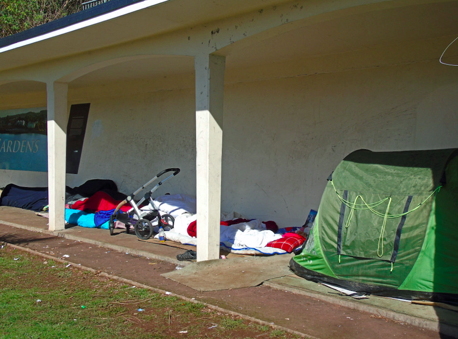 Tents have previously been spotted close to the beach in Torquay. (SWNS)