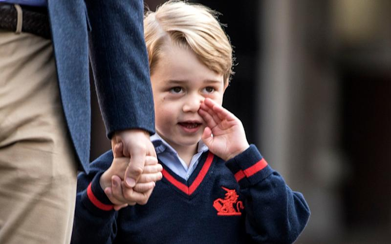 After taking his son to school, Prince William told a fellow parent: 'I just dropped George off and he didn't want to go' - PA