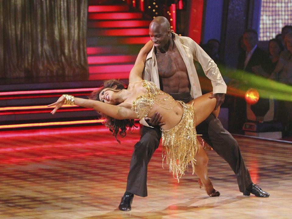 <p>Chad's athletic abilities came in super clutch when he danced his way to cuatro place with his partner, <em>DWTS</em> veteran Cheryl Burke. Those muscles!!</p>
