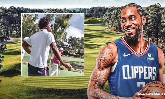 [WATCH] Kawhi Leonard Shows Off New Fro Hairdo While Playing Golf