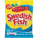 "<p><strong>Swedish Fish</strong></p><p>amazon.com</p><p><strong>$7.56</strong></p><p><a href=""https://www.amazon.com/dp/B07MZGF93S?tag=syn-yahoo-20&ascsubtag=%5Bartid%7C2089.g.35651204%5Bsrc%7Cyahoo-us"" rel=""nofollow noopener"" target=""_blank"" data-ylk=""slk:Shop Now"" class=""link rapid-noclick-resp"">Shop Now</a></p><p>No sketchy fishing practices here, people. These fish-free candies swap gelatin for thickening and stabilizing ingredients like cornstarch and mineral oil.</p><p><em>Per 19 pieces: 140 cals, 0 g fat (0 g sat), 35 g carbs, 21 g sugar, 16 mg sodium, 0 g fiber, 0 g protein. </em></p>"