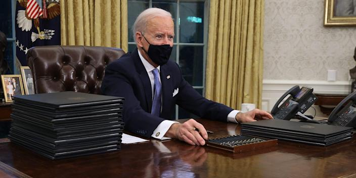 Joe Biden Oval Office