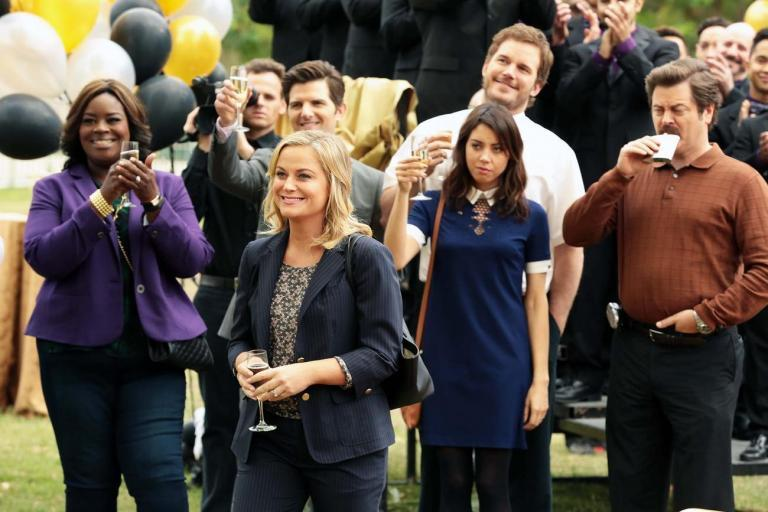 Parks and Recreation creator discusses reunion possibilities after cast pictured together at PaleyFest