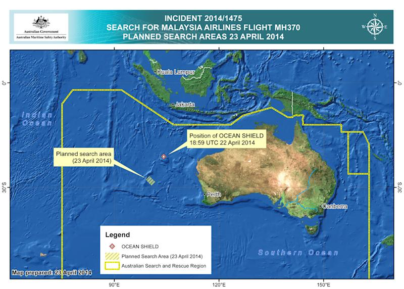 Material on Australian shore not from Malaysia jet