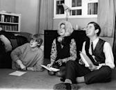 <p>Prince Charles in drama rehearsals at Cambridge University in the late 60s.</p>