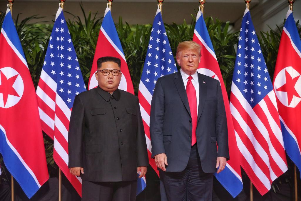Mr Kim and Mr Trump met at a hotel in Singapore (Picture: Getty)
