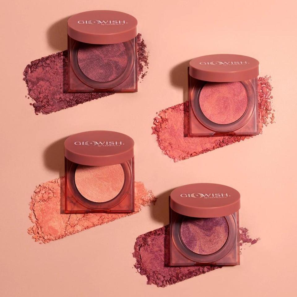 <p>Give your cheeks that naturally rosy look with the new <span>Huda Beauty GloWish Cheeky Vegan Blush Powder</span> ($21). It comes in four, buildable shades that will give you that soft-focus glow.</p>