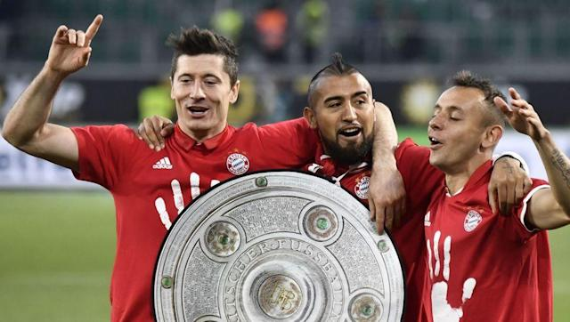 <p>Beer time! </p> <br><p>In a crucial weekend of Bundesliga action, Bayern Munich absolutely crushed Wolfsburg (0-6) to assure themselves a fifth consecutive title, the 27th of their history. The title came after two exciting news this week squad-wise: the completed signing of Kingsley Coman and the contract extension of Thiago. </p> <br><p>Munich's coach Carlo Ancelotti also made history, becoming the first ever manager to win four of Europe's top five championships (Serie A in 2002-03, Premier League in 2009-10, Ligue 1 in 2012-13 and Bundesliga in 2016-17). Remind me how he was kicked out of Real Madrid for Rafael Benitez again? </p> <br><p>This 31st round of BuLi also sealed the top four who will compete in the Champions League next season, and it includes Hoffenheim and their 29-year-old manager Julian Nagelsmann. This will be Hoffenheim's first ever appearance in the Champions League. Now, they will have to fight for third place against Dortmund in the last three games of the season. Congrats! </p>