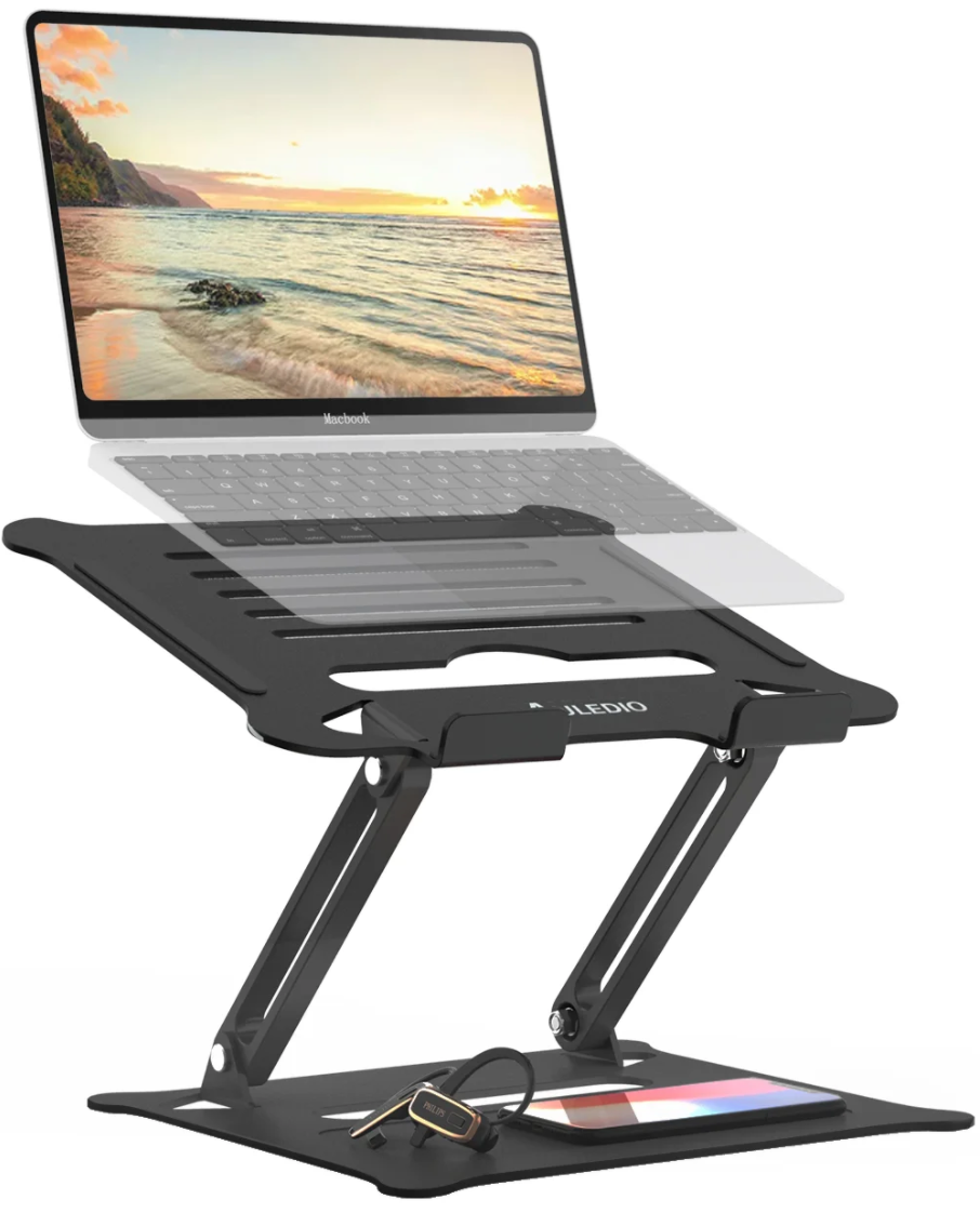 "<h2>Auledio Adjustable Laptop Cart</h2><br><strong>Best For: Alignment</strong><br>Auledio's laptop cart is adjustable in both height and angle to optimize anyone's neck comfort. <br> <br><em>Shop</em> <a href=""https://www.wayfair.com/brand/bnd/auledio-b59764.html"" rel=""nofollow noopener"" target=""_blank"" data-ylk=""slk:Auledio"" class=""link rapid-noclick-resp""><strong><em>Auledio</em></strong></a><br><br><strong>Auledio</strong> Adjustable Laptop Cart, $, available at <a href=""https://go.skimresources.com/?id=30283X879131&url=https%3A%2F%2Fwww.wayfair.com%2Fcommercial-business-furniture%2Fpdp%2Fauledio-adjustable-laptop-cart-aded1060.html"" rel=""nofollow noopener"" target=""_blank"" data-ylk=""slk:Wayfair"" class=""link rapid-noclick-resp"">Wayfair</a>"