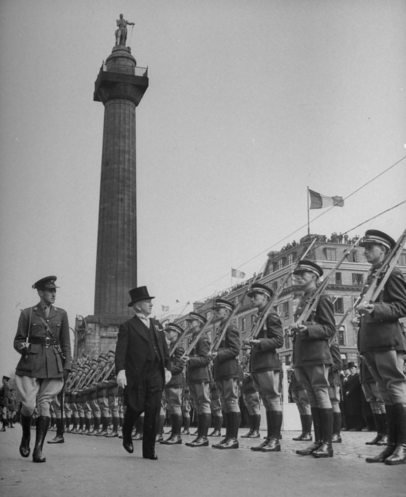 Ireland's president Sean O'Kelly reviewing the guard of honour on Easter Sunday, Ireland's independence day.