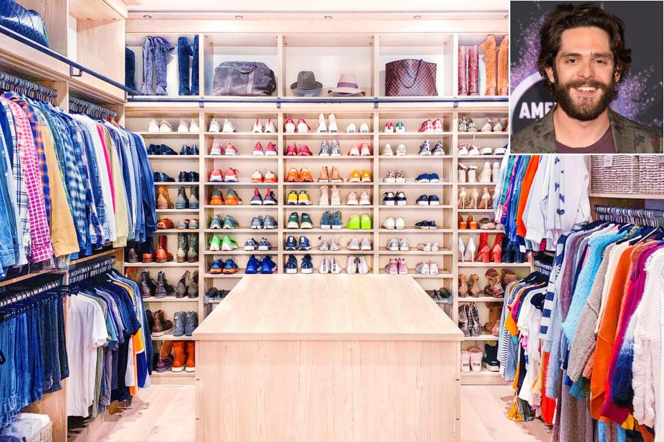 """<strong>Arrange Clothes for Easy Dressing</strong> Group like styles together so your outfit options are clear at a glance, suggests the <a href=""""https://thehomeedit.com/"""" rel=""""nofollow noopener"""" target=""""_blank"""" data-ylk=""""slk:Home Edit"""" class=""""link rapid-noclick-resp"""">Home Edit</a> cofounder Clea Shearer, who worked with country star Thomas Rhett. Sort shirts, for example, first by sleeve length and then by category (T-shirts, button-downs, etc.). """"Matching hangers make everything look neat too,"""" she says. Shearer also suggests sorting through <em>all</em> your clothing before you even begin organizing. """"Editing is such a remarkable way to transform a space,"""" Shearer says. """"If all you can do is just go through your closet and remove the things that you don't wear, want, or will never use, that alone will make a huge difference."""""""