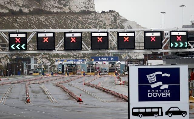 Check-in at the Port of Dover