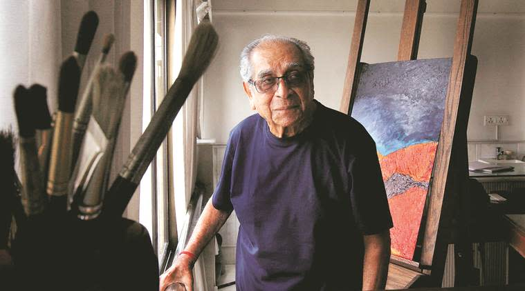Akbar Padamsee, paintings, Akbar Padamsee's artistic vision, Eye 2020, Sunday Eye, Indian Express, Indian Express news