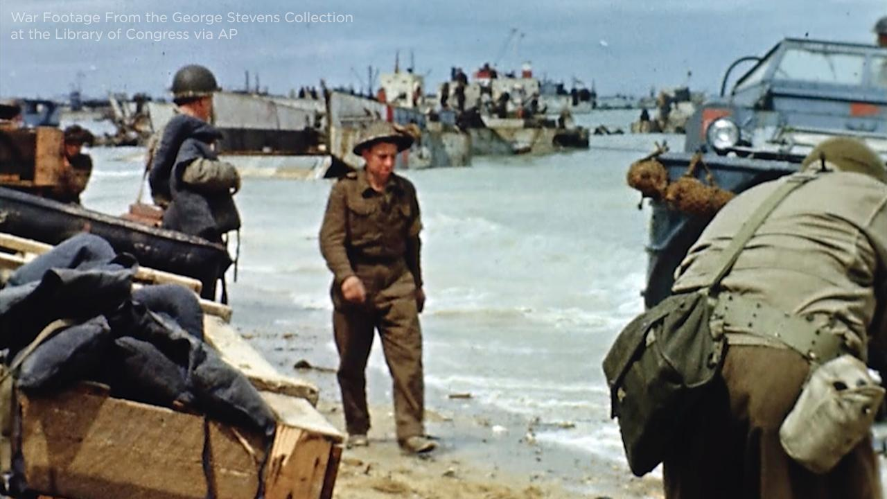 D-Day anniversary: Rare color footage brings World War II to life 75 years  later