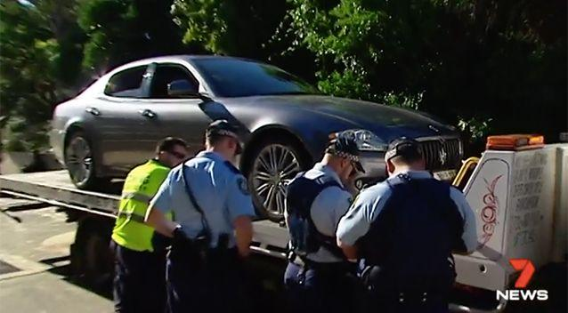 The car was eventually towed away. Photo: 7 News