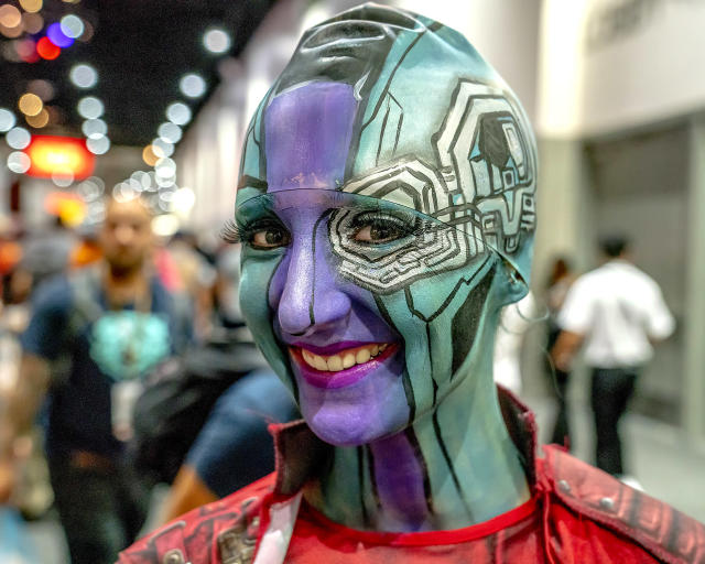 <p>Cosplayer dressed as Nebula at Comic-Con International on July 20, 2018, in San Diego. (Photo: Christy Radecic/Invision/AP) </p>