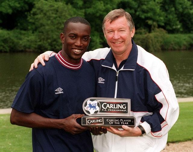 Dwight Yorke (left) has had Sir Alex Ferguson's (right)help attempting to open door in management.