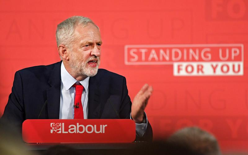 Labour leader Corbyn delivers first general election campaign speech in London - EPA