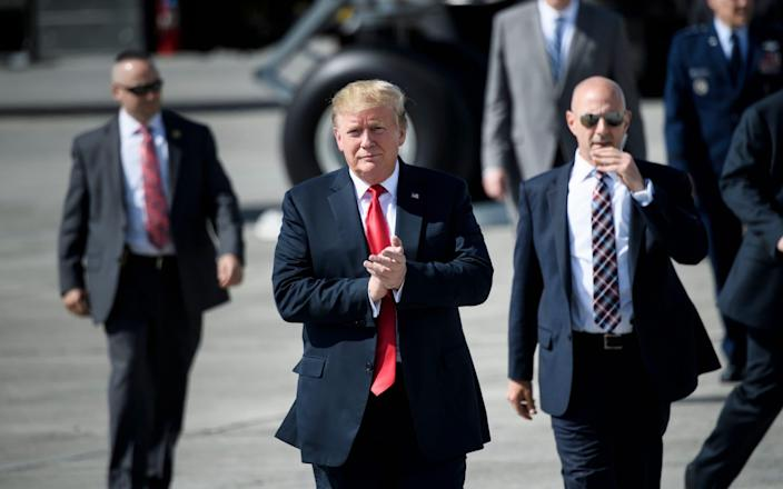 Mr Trump approved plans to send more US troops to the Middle East - AFP