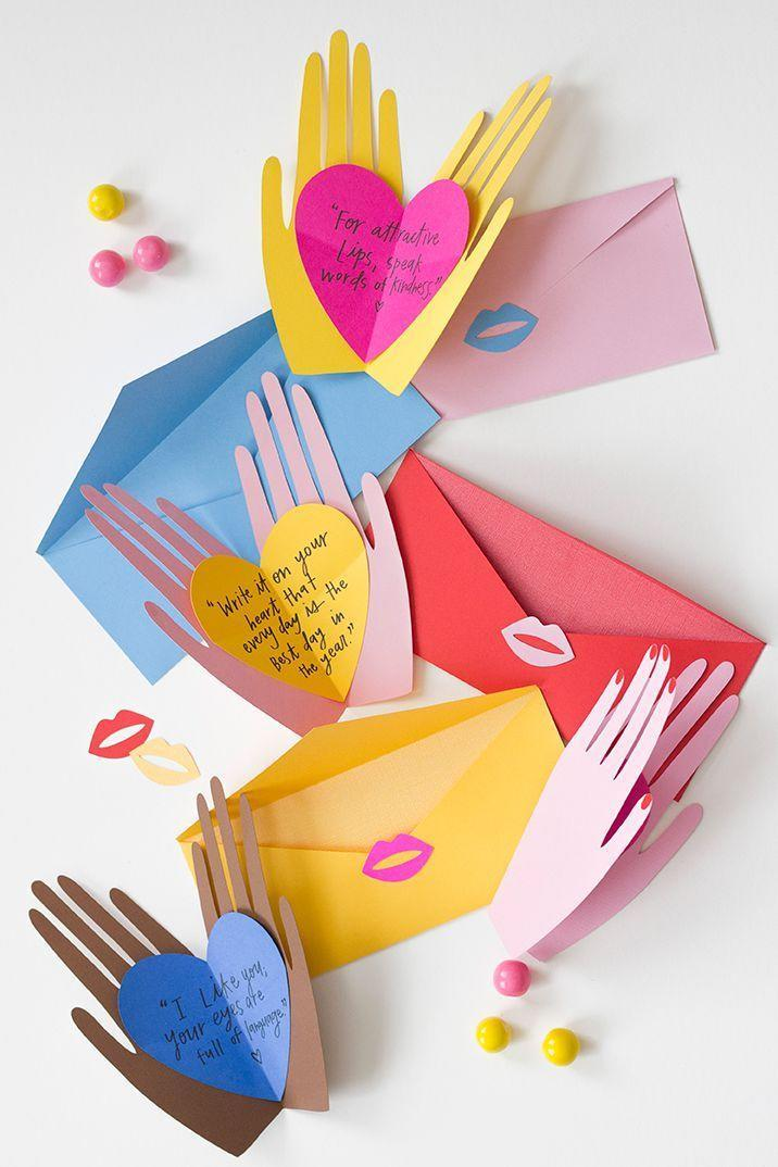 """<p>You'd be surprised: A good homemade card with a sweet note might just be the gift that mom will treasure for years to come. </p><p><em><a href=""""http://thehousethatlarsbuilt.com/2016/01/hands-holding-hearts-pop-up-valentines.html/?"""" rel=""""nofollow noopener"""" target=""""_blank"""" data-ylk=""""slk:Get the tutorial at The House That Lars Built »"""" class=""""link rapid-noclick-resp"""">Get the tutorial at The House That Lars Built »</a></em></p>"""