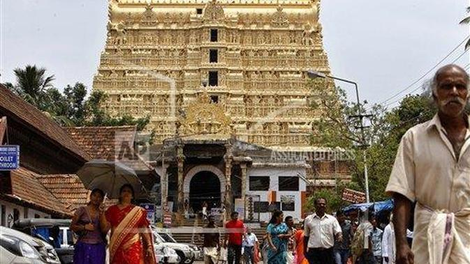 Sree Padmanabhaswamy Temple in Thiruvananthapuram, India (AP Photo/Aijaz Rahi, File)