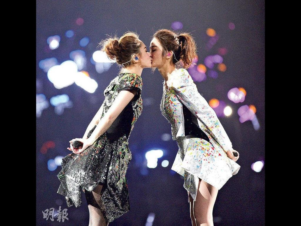 Charlene Choi and Gillian Cheung professed their love and care for each other