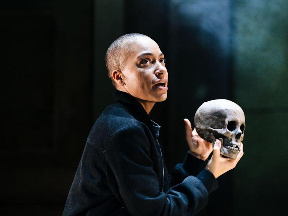 Cush Jumbo as Hamlet can't pull the production together by sheer force of will  (Helen Murray)