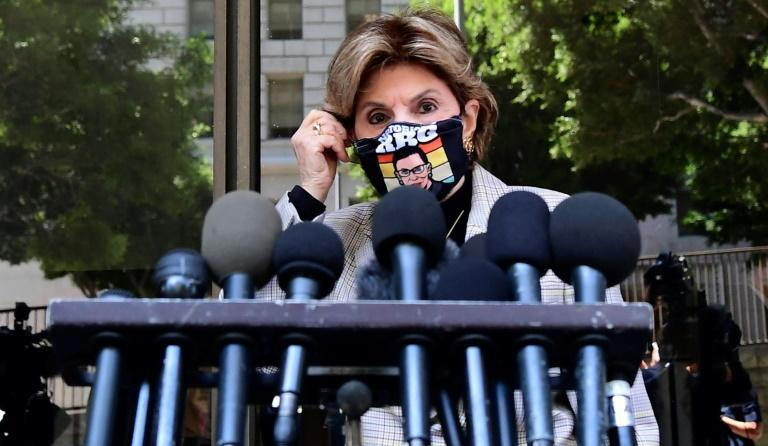 Victims lawyer Gloria Allred arrives to speak to the press outside the court on July 21, 2021, after Harvey Weinstein pleaded not guilty in Los Angeles