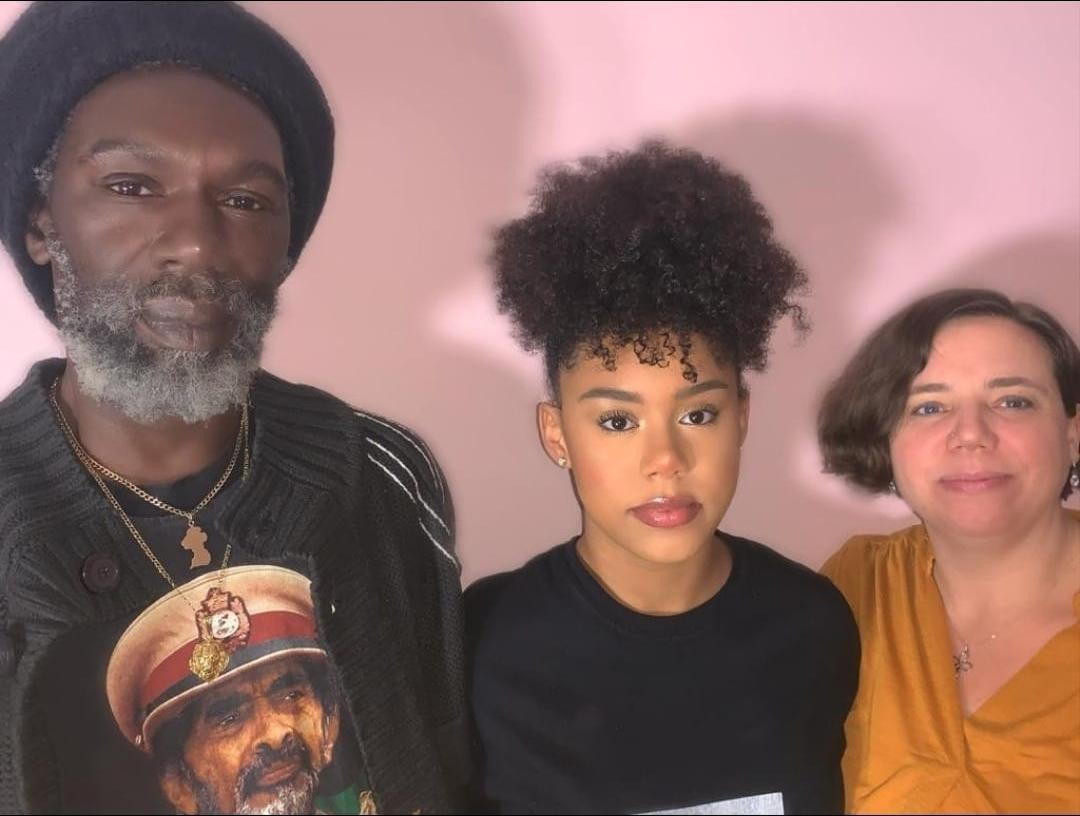 Ruby with her parents, Kate and Lenny Williams (Williams family)