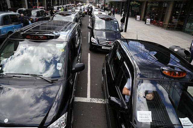 London's Black Cabs Protest Against Transport For London
