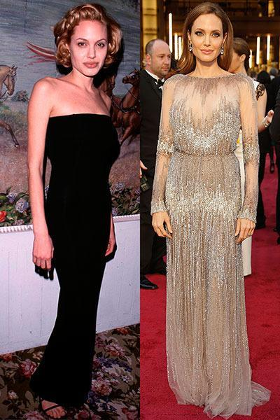 """Angelina in 1999 vs. Angelina in 2014.<br><br><b><a rel=""""nofollow"""" href=""""https://au.lifestyle.yahoo.com/new-idea/news/star-watch/"""" data-ylk=""""slk:CLICK HERE FOR THE LATEST CELEBRITY NEWS!"""" class=""""link rapid-noclick-resp"""">CLICK HERE FOR THE LATEST CELEBRITY NEWS!</a><b> <br><br></b></b>"""