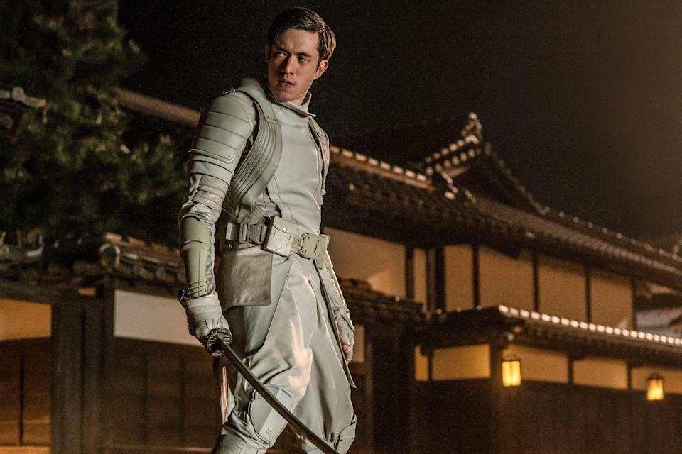 """Storm Shadow (Andrew Koji) turns his back on his ninja clan and his best friend at the end of """"Snake Eyes."""""""