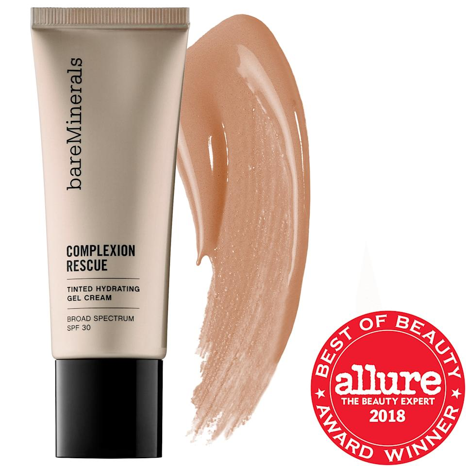 "<p><strong>bareMinerals</strong></p><p>sephora.com</p><p><strong>$32.00</strong></p><p><a href=""https://m.sephora.com:443/product/complexion-rescue-tinted-hydrating-gel-cream-P393356"" target=""_blank"">Buy Now</a></p><p>According to Dr. Akhavan, Bare Minerals products are very well-liked, due in part to their clean formula. This tinted gel cream leaves your skin looking dewy and hydrated. As the name implies, it's mineral based and doesn't result in a cakey look, like other tinted moisurizers. </p>"