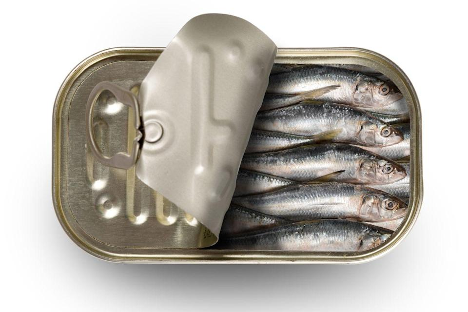 <p>These tiny, budget-friendly canned fish are covered in oil and loaded with numerous health benefits. They're packed with immune-boosting vitamin B-12, anti-inflammatory selenium, bone-healthy phosphorous, and vitamin D - just two sardines (drained) contain 46 IU. Toss them into a salad or place them on a cracker for a quick snack.</p>