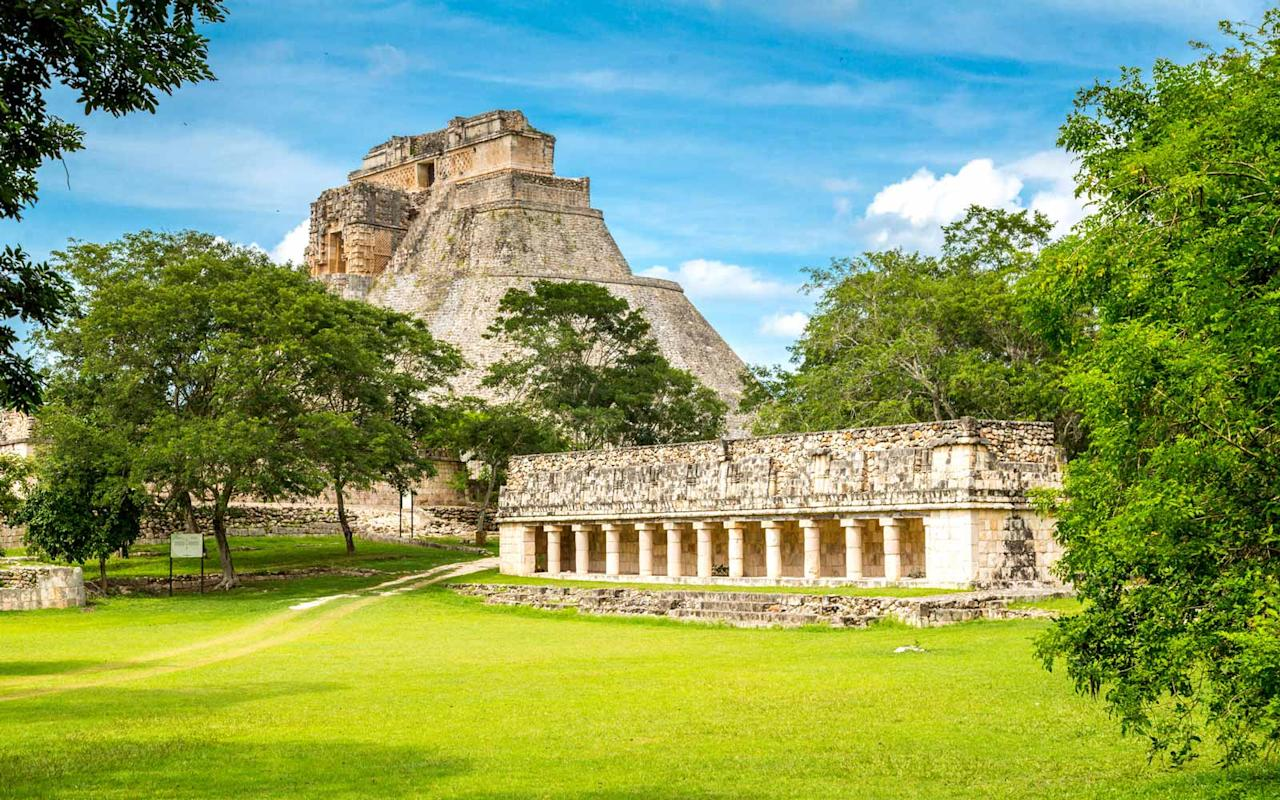 """<p><a rel=""""nofollow"""" href=""""http://www.travelandleisure.com/local-experts/cancun/top-mayan-ruins-near-cancun"""">Chichen Itza</a> is a popular day trip for travelers visiting Cancún. El Castillo, an iconic pyramid built by the Mayan people, is one of the New Seven Wonders of the World—and it's just one of the area's many ruins that will take your breath away.</p>"""
