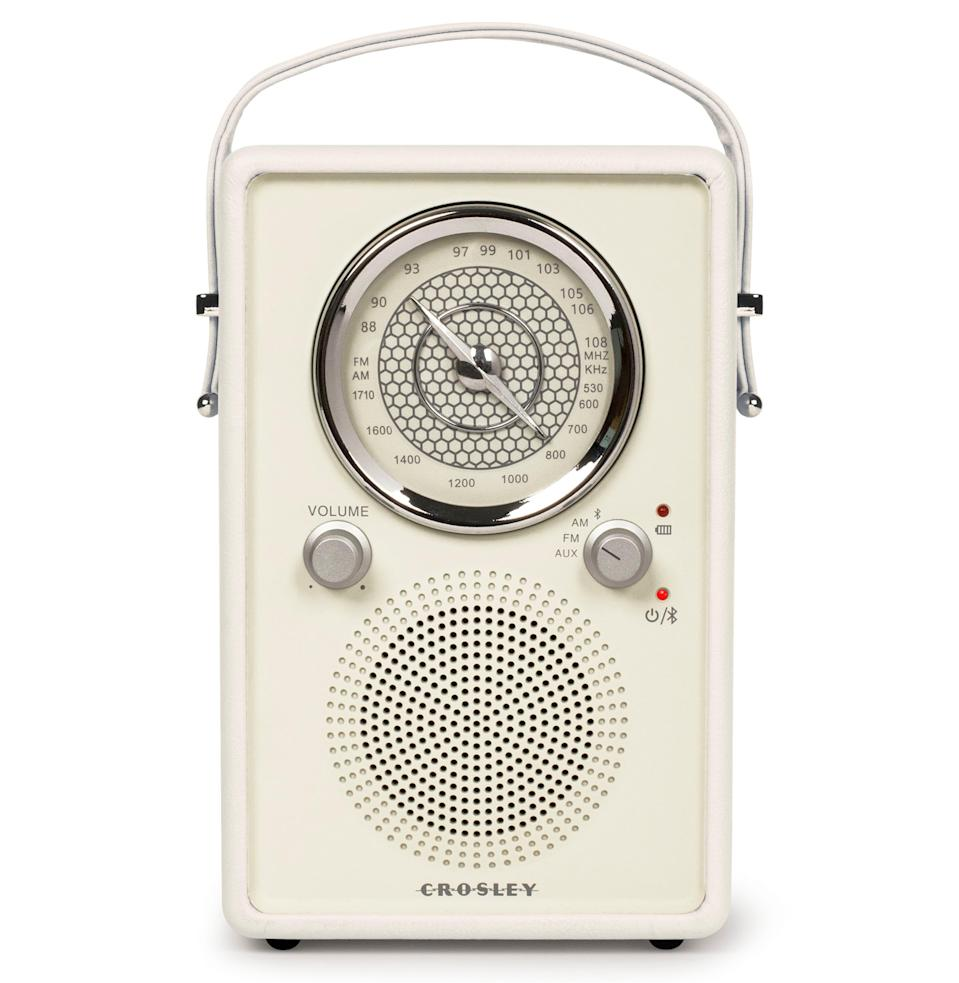 """<p><strong>Crosley Radio</strong></p><p>nordstrom.com</p><p><strong>$60.17</strong></p><p><a href=""""https://go.redirectingat.com?id=74968X1596630&url=https%3A%2F%2Fshop.nordstrom.com%2Fs%2Fcrosley-radio-mockingbird-bluetooth-radio%2F5284287&sref=https%3A%2F%2Fwww.esquire.com%2Flifestyle%2Fg32982032%2Fcool-desk-accessories%2F"""" rel=""""nofollow noopener"""" target=""""_blank"""" data-ylk=""""slk:Shop"""" class=""""link rapid-noclick-resp"""">Shop</a></p><p>Aesthetic aside, the benefit to having a Bluetooth speaker that also transmits AM and FM radio is the access to the NPR newscast, the baseball game, the local jazz station—all have their place in the workday. Refocusing on aesthetic, this thing really does look cool. </p>"""