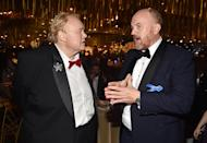 <p>Comedians Louie Anderson and Louis C.K. got together at the Governors Ball. (Photo: Alberto E. Rodriguez/Getty Images) </p>