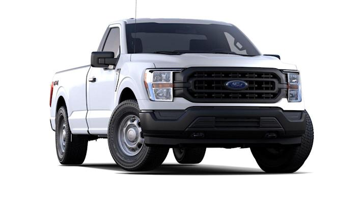 "<p><strong>Configuration: </strong>XL trim level, regular cab, 4x2</p><p>The <a href=""https://www.caranddriver.com/ford/f-150"" rel=""nofollow noopener"" target=""_blank"" data-ylk=""slk:Ford F-150"" class=""link rapid-noclick-resp"">Ford F-150</a> is the perpetual winner in the pickup-truck sales race, and it has been redesigned for 2021. The new design isn't all that different, and you won't benefit from many of the truck's most <a href=""https://www.caranddriver.com/news/g34222776/2021-ford-f-150-10-features-spotted/"" rel=""nofollow noopener"" target=""_blank"" data-ylk=""slk:interesting new features"" class=""link rapid-noclick-resp"">interesting new features</a> when you choose a stripper model like the XL regular cab seen here for just over $30,000. And even though there's a new F-150 hybrid available, getting an F-series on the cheap requires settling for a carryover engine, a naturally aspirated 3.3-liter V-6, and rear-wheel drive.<strong><br></strong></p>"