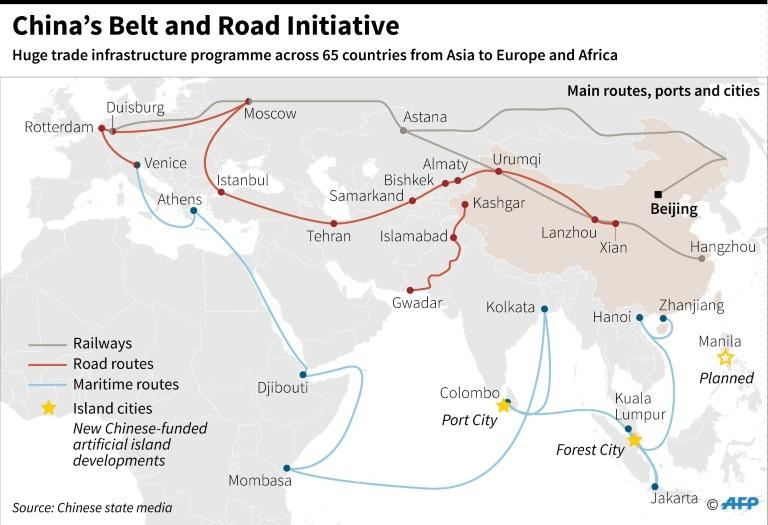China's massive trade infrastructure investment programme (AFP Photo/Laurence CHU)
