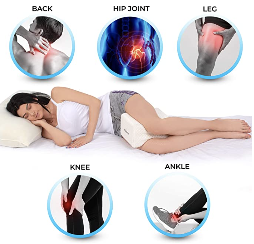 PHOTO: Amazon. Memory Foam Leg Pillow Wedge for Side Sleepers, Pregnancy, Spine Alignment and Pain Relief
