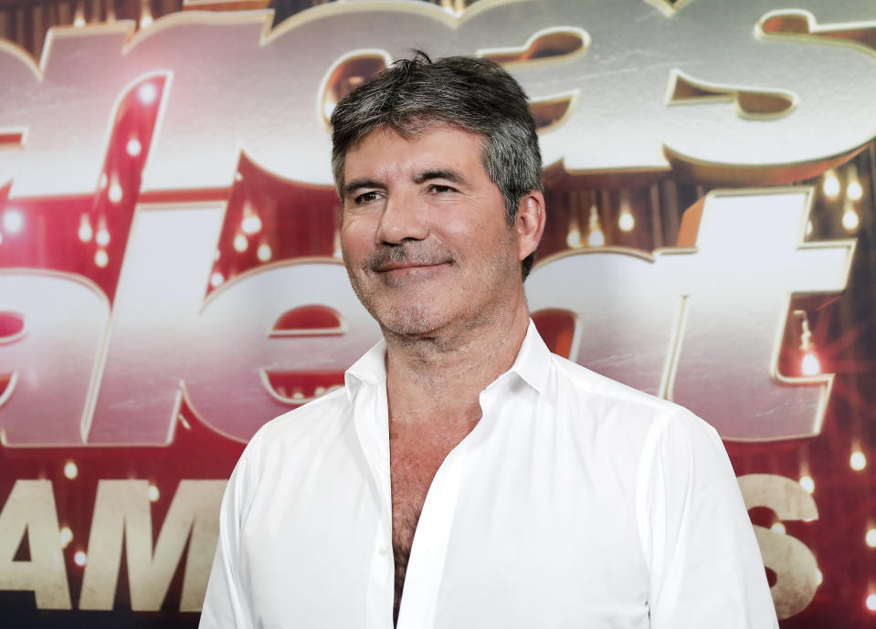 Simon Cowell attends the 'America's Got Talent: The Champions' Finale at Pasadena Civic Auditorium on October 17, 2018 in Pasadena, California. (Photo by Tibrina Hobson/WireImage,)