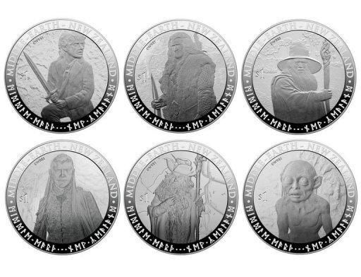 The coins featuring characters such as Bilbo Baggins will be legal tender in the country, New Zealand Post said