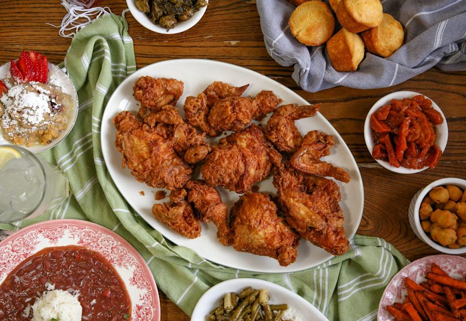 """<p>One bite and you'll understand why people begin lining up outside <a href=""""https://williemaesnola.com/"""" rel=""""nofollow noopener"""" target=""""_blank"""" data-ylk=""""slk:Willie Mae's Scotch House"""" class=""""link rapid-noclick-resp"""">Willie Mae's Scotch House</a> in New Orleans hours before the restaurant opens for lunch. Their perfectly-seasoned chicken is dipped in a wet batter and deep-fried, creating a crunchy, golden crust that encases the moist meat within. </p>"""