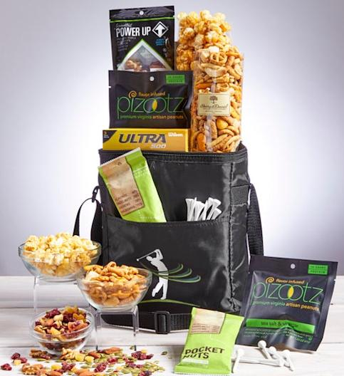 1800Baskets Tee Time for Dad Golf Cooler Bag with Snacks