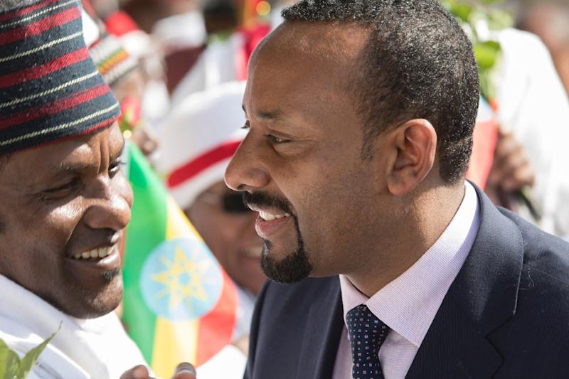 Man in a hurry: Ethiopia's new prime minister, Abiy Ahmed, has unveiled a hectic programme of reforms -- but the risks are many, say analysts (AFP Photo/ZACHARIAS ABUBEKER)