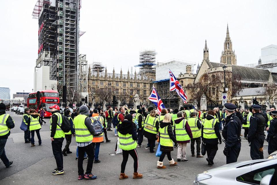 The area outside Parliament is a popular location for pro and anti-Brexit protesters (Picture: PA)