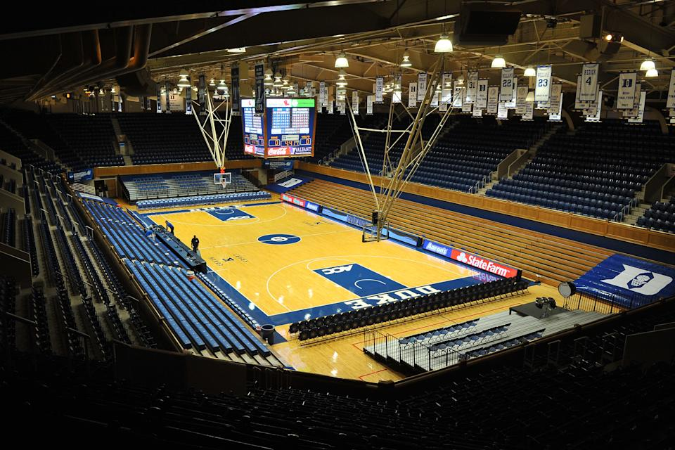 DURHAM, NC - NOVEMBER 23: A general view inside Cameron Indoor Stadium prior to a game between the Valparaiso Crusaders and the Duke Blue Devils on November 23, 2012 in Durham, North Carolina. (Photo by Lance King/Getty Images)