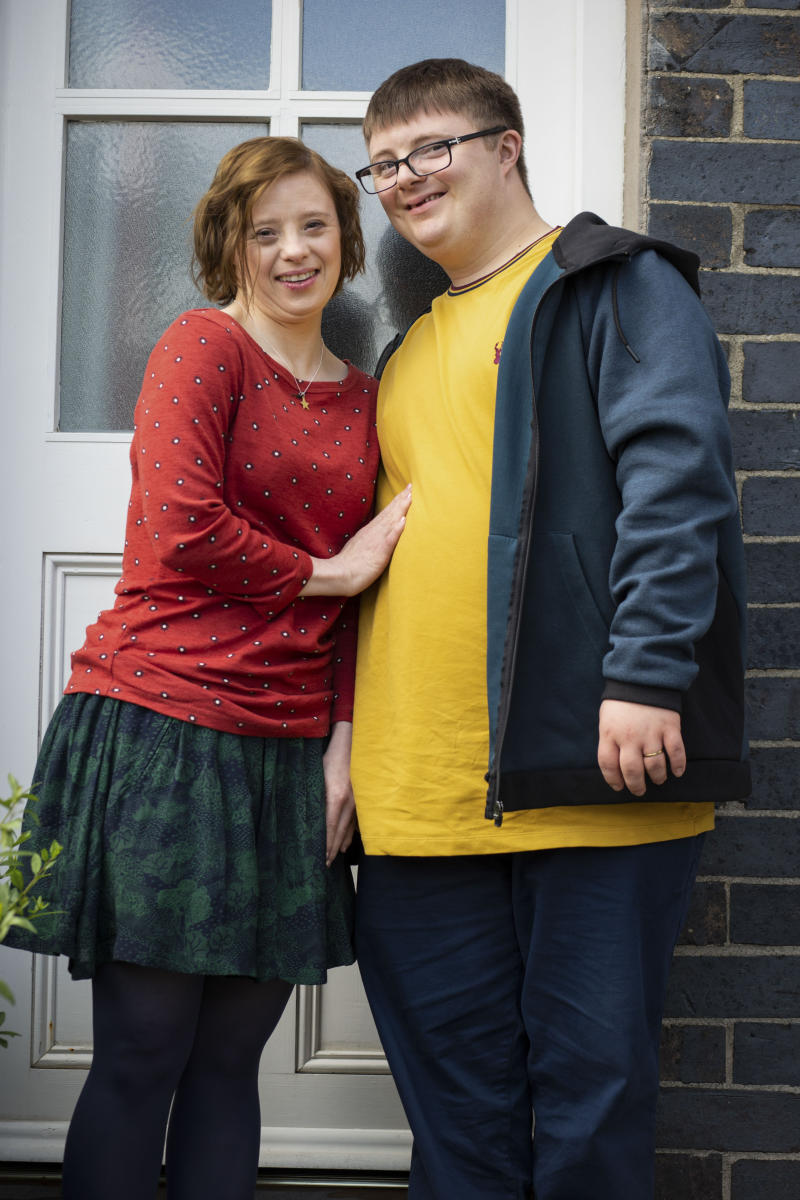 Programme Name: The A Word - TX: n/a - Episode: n/a (No. n/a) - Picture Shows: Katie (SARAH GORDY), Ralph (LEON HARROP) - (C) Fifty Fathoms - Photographer: Rachel Joseph